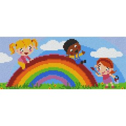 Kids Playing over the Rainbow