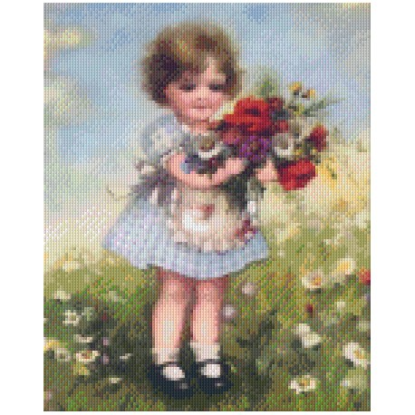 Girl with Boquet