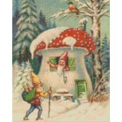 Mushroom House in Winter