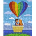 Couple in a Hotair Balloon