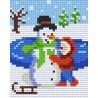 Snowman being Built